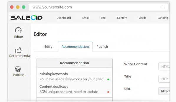 Make the content better with the content optimization tool