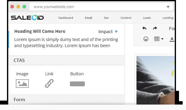 Easily drag & drop CTA button on emails, social media, website, landing page, etc.