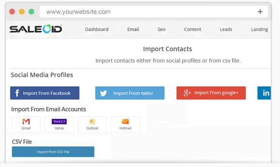 Import social media contacts