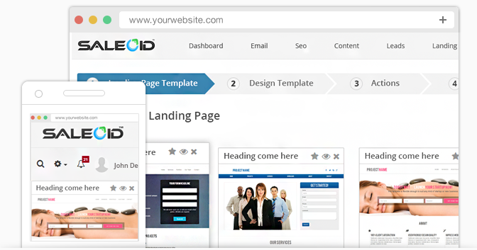 Use pre-built landing page