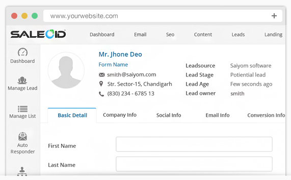 CRM integration with lead management