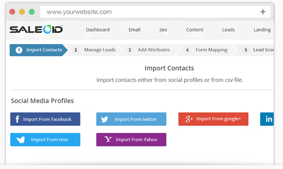 Import all contacts in one place