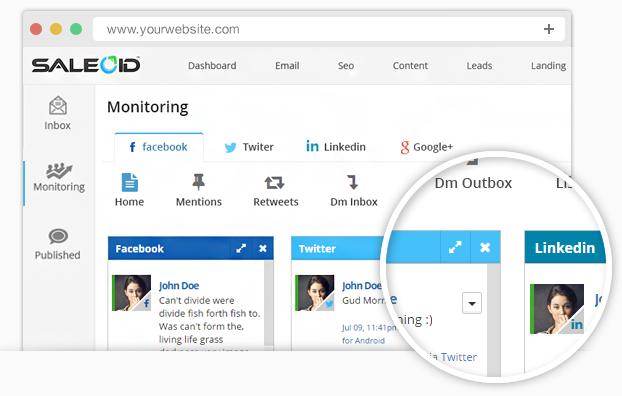 Monitor social media activities